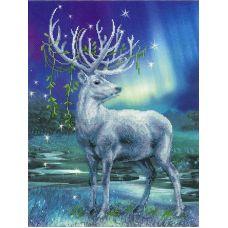 Набор для вышивания Белый олень, частичная вышивка, 30x40, Риолис, Сотвори сама