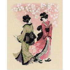 Набор для вышивания Вишни в цвету, 24x30, Риолис, Сотвори сама