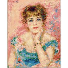 Набор для вышивания Портрет Жанны Самари, 30x38, Риолис, Сотвори сама