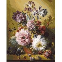Картина по номерам Фламандский букет, 40x50, Белоснежка