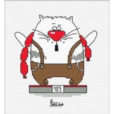 Набор для вышивания Кошачий гороскоп. Весы, 11x12, Овен