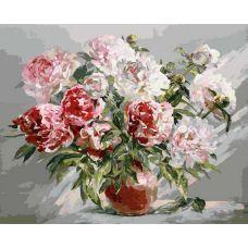 Раскраска Пионы, 40x50, Белоснежка