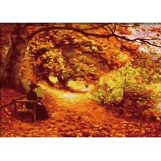 Раскраска Осенний парк, 40x50, Белоснежка