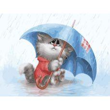 Раскраска Кошарик под дождем Алексея Долотова, 30x40, Белоснежка