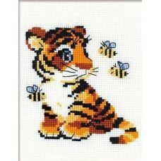 Набор для вышивания Полосатики, 15x18, Риолис Веселая пчёлка