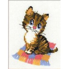 Набор для вышивания Котёнок, 15x18, Риолис Веселая пчёлка