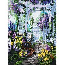 Живопись на холсте Прекрасный сад, 30x40, Белоснежка
