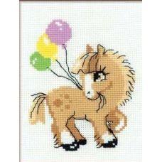 Набор для вышивания Пони пончик, 15x18, Риолис Веселая пчёлка