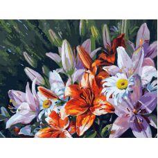 Картина по номерам Лилии из сада, 30x40, Белоснежка
