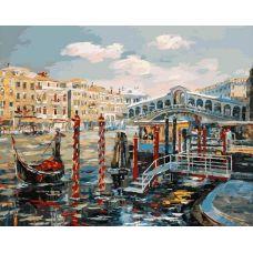 Раскраска Венеция. Мост Риальто, 40x50, Белоснежка