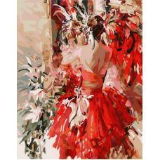 Раскраска Девушка в красном (репродукция «Карнавал» Ивана Славинского), 40x50, Белоснежка