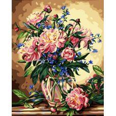 Раскраска Букет лесных цветов, 40x50, Белоснежка