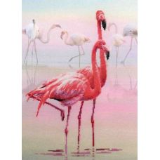 Набор для вышивания Фламинго, частичная вышивка, 30x40, Риолис, Сотвори сама