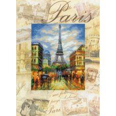 Набор для вышивания Города мира. Париж, частичная вышивка, 30x40, Риолис, Сотвори сама