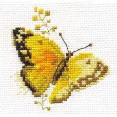 Вышивка Яркие бабочки. Желтая, 9x8, Алиса