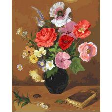 Раскраска Натюрморт с букетом, 40x50, Белоснежка