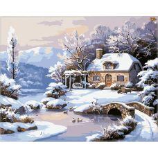 Живопись по номерам Зимнее утро, 40x50, Paintboy, GX4805