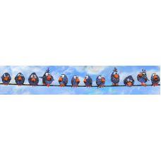 Набор для вышивания Воробьи, 112x19, Вышиваем бисером