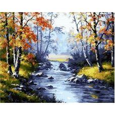 Живопись на холсте Осенняя река, 40x50, Paintboy, GX21076