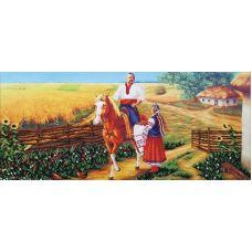 Набор для вышивания бисером Укр. просторы (Казак удалой), 61x29, Магия канвы