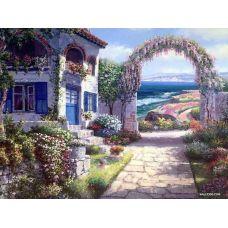 Картина по номерам Дом на взморье, 40x50, Paintboy, GX22911