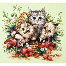 Набор для вышивания крестом Милые созданья!, 35x31, Чудесная игла