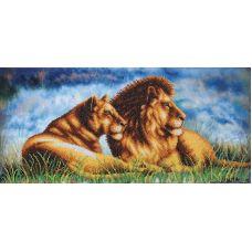 Набор для вышивания бисером Львы, 49,5x23,5, Магия канвы
