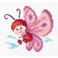 Набор для вышивания Бабочка, 8х8, Чудесная игла