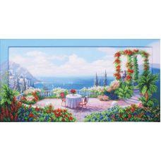 Набор для вышивания бисером Медовый месяц, 58x29,5, Магия канвы