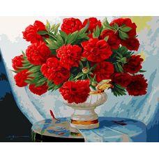 Живопись на холсте Пунцовые пионы, 40x50, Paintboy, GX4724