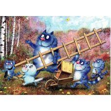 Живопись на холсте Встреча птиц, 40x50, Paintboy, GX21687