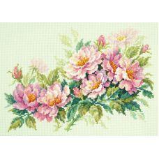 Набор для вышивания крестом Розовый шиповник, 30x20, Чудесная игла
