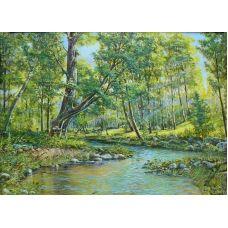 Живопись по номерам Ручей в лесу, 40x50, Paintboy, GX4881