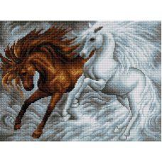 Набор для вышивания Лошади, 30x40, Вышиваем бисером