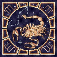 Набор для вышивания бисером Скорпион, 20x20, МП-Студия