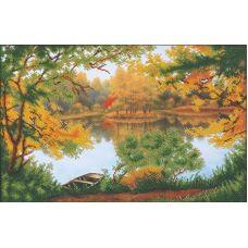 Набор для вышивания бисером Осенняя прогулка, 45,5x28,5, Магия канвы