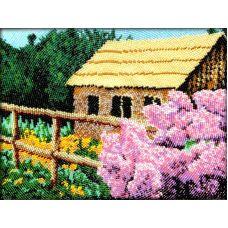 Набор для вышивания Сирень у дома, 19x26, Вышиваем бисером