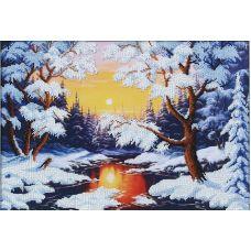 Набор для вышивания бисером Зимняя сказка, 41x28, Магия канвы