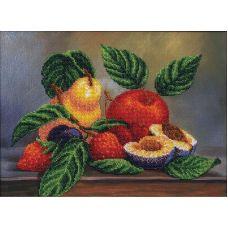 Набор для вышивания бисером Ассорти фруктов, 34x25,5, Магия канвы