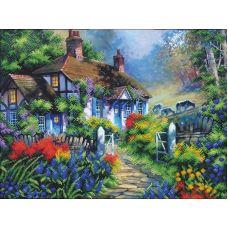 Набор для вышивания бисером Сказочный пейзаж-6, 43,5x33,5, Магия канвы