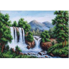 Набор для вышивания бисером Водопад в горах, 40x27,5, Магия канвы
