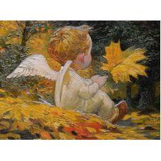 Живопись на холсте Осенний ангел, 40x50, Paintboy, GX21328