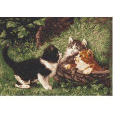Набор для вышивания Котята в корзине, 39x27, Палитра