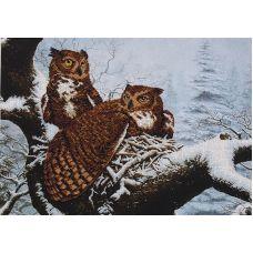 Набор для вышивания бисером Семейное гнездо, 50,5x36,5, Магия канвы