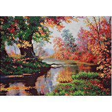 Набор для вышивания бисером Золотая осень, 42x29,5, Магия канвы