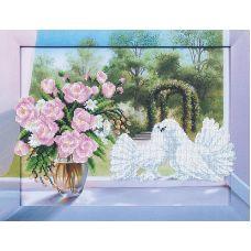 Набор для вышивания бисером Романтика, 30,5x38, Магия канвы