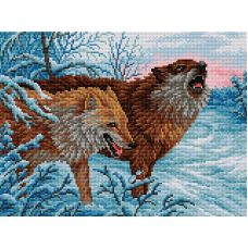 Набор для вышивания Волки, 30x40, Вышиваем бисером