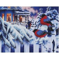 Набор для вышивания бисером Вестники зимы, 37x27, Магия канвы