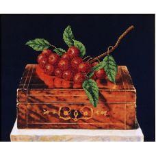 Набор для вышивания бисером Рябина на шкатулке, 33,5x27,5, Магия канвы