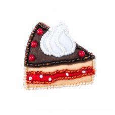Набор для шитья Шоколадное пирожное, 4,1x4,7, Перловка